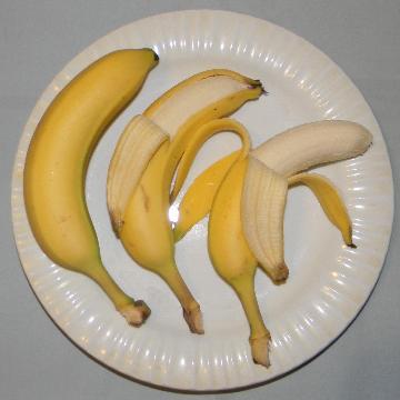 Peel a banana from the bottom