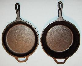 Two Skillets Side by Side
