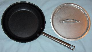 Teflon Skillet and Stainless Lid
