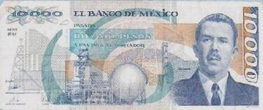 10,000 Peso Mexican Bill