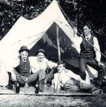 Family Living in a Tent